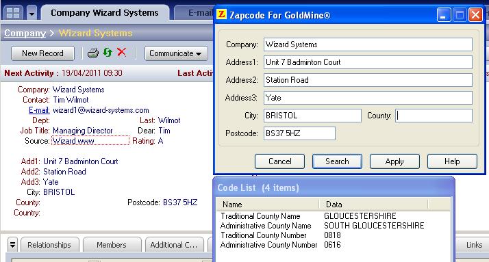 goldmine blog real time uk address data capture for goldmine with