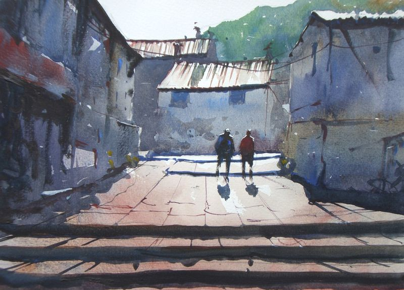 Staithes_sunny_street