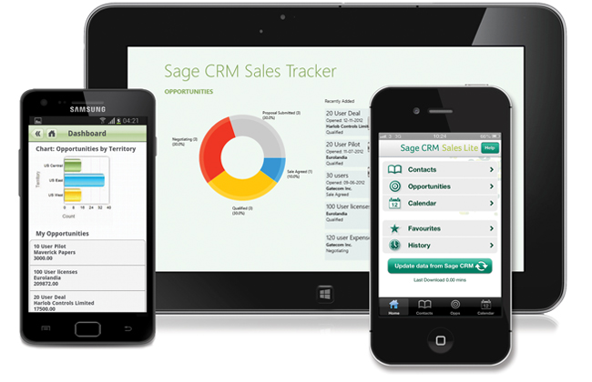 Sage crm mobile access options
