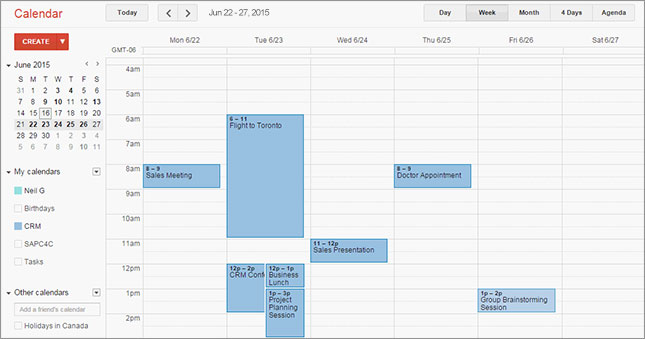 Riva sync google calendar to crm
