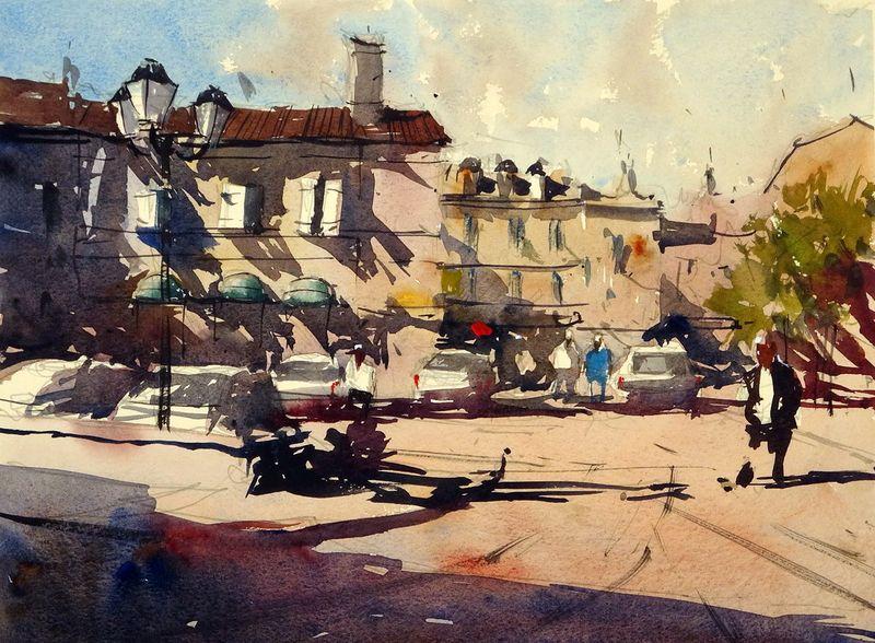 Place du 11 Novembre, Duras, France