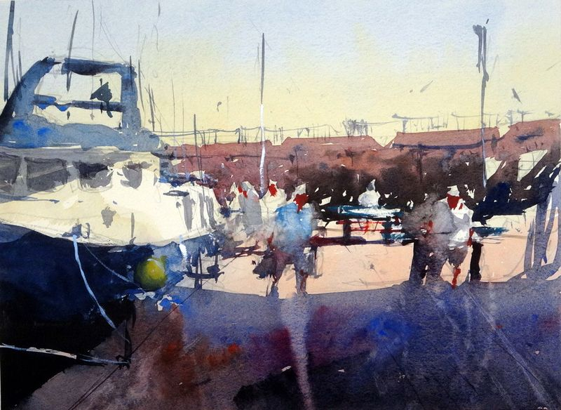 Boats_unloading_cambrils_fish_market_spain