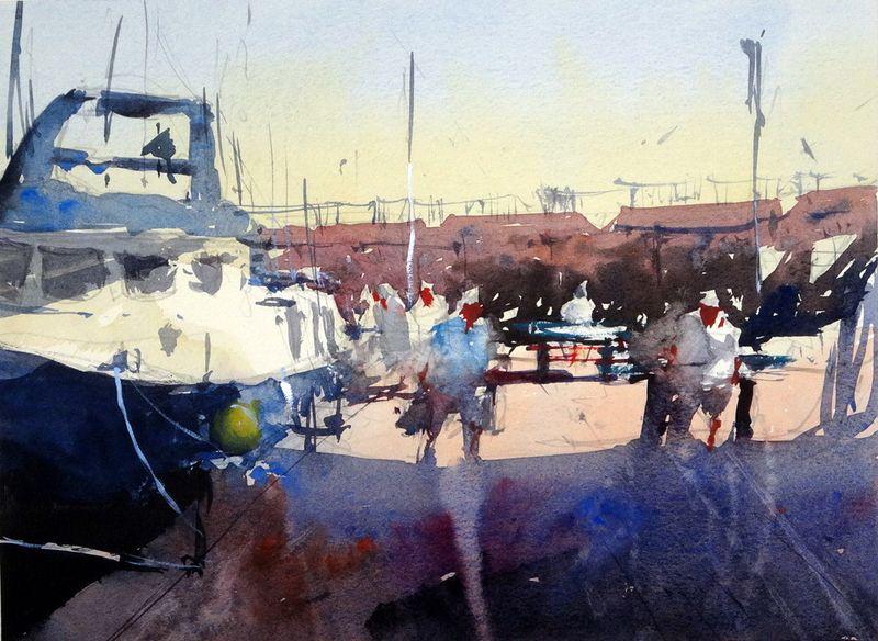 Boats_unloading_cambrils_fish_market_spain