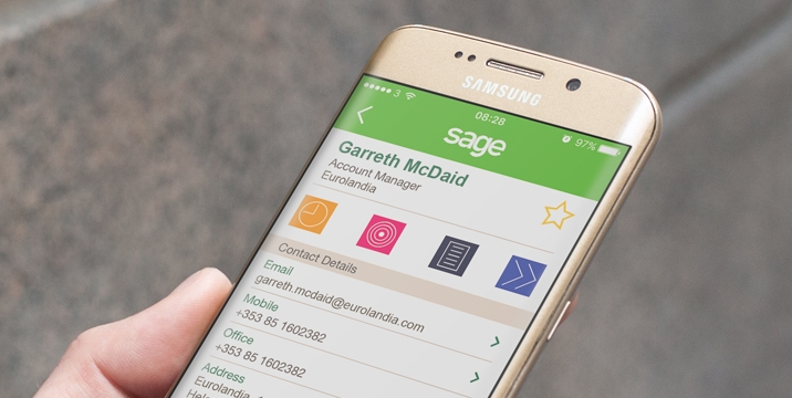 Sage crm for iphone and android