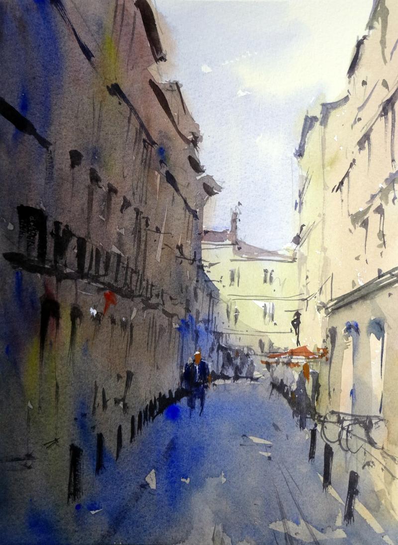 Narrow street central bordeaux
