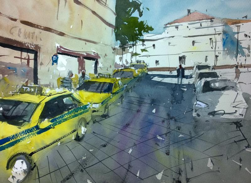 Taxi rank funchal madeira