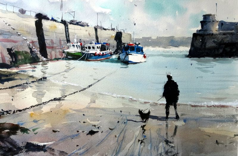 Fishing_boats_sheltering_newquay_harbour