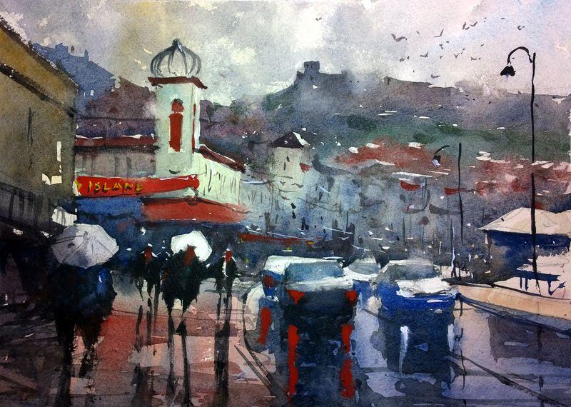 Scarborough in the rain 2