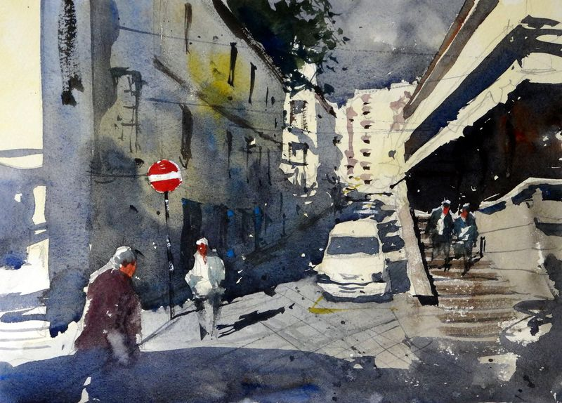 Funchal Madeira - An exercise in negative painting and perspective