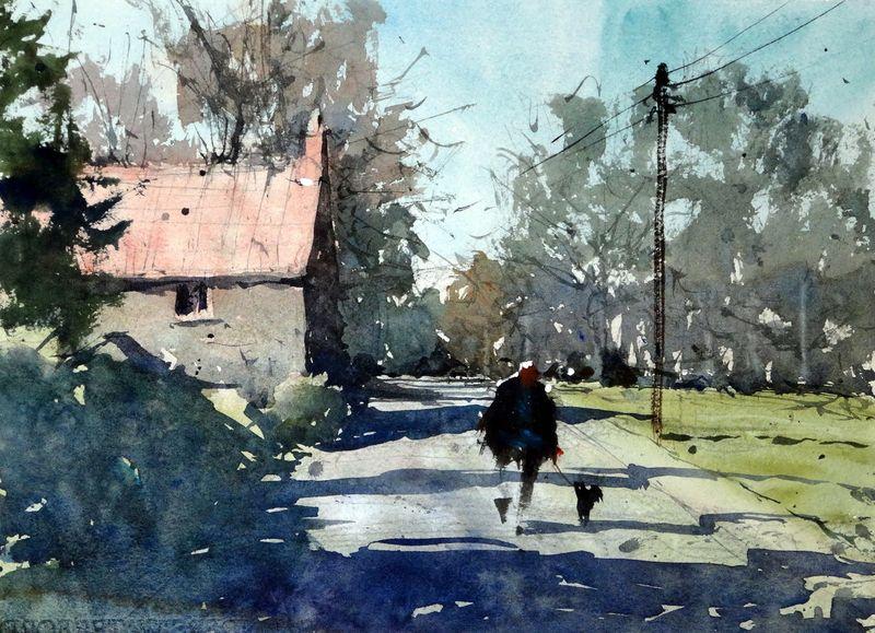Goose_green_yate_practice_painting