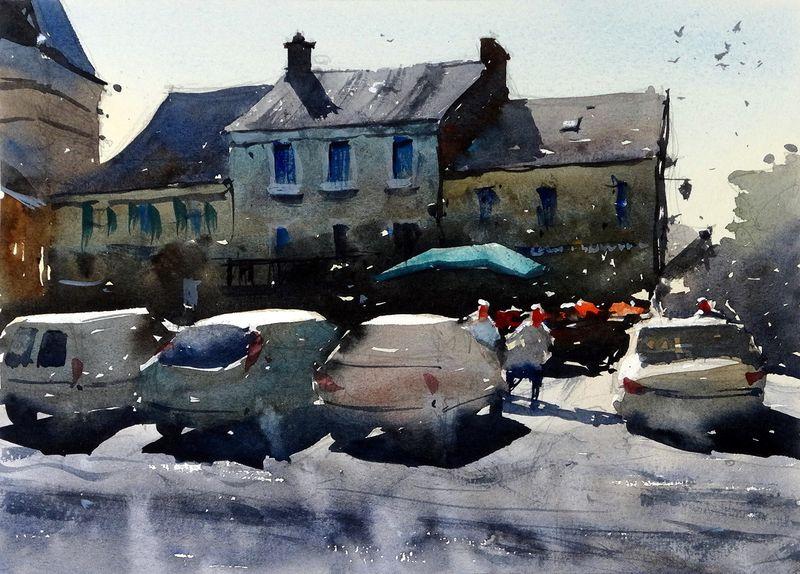Market Day, Payzac, France