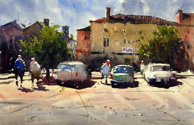Car Park, St Saud Lacoussiere, France