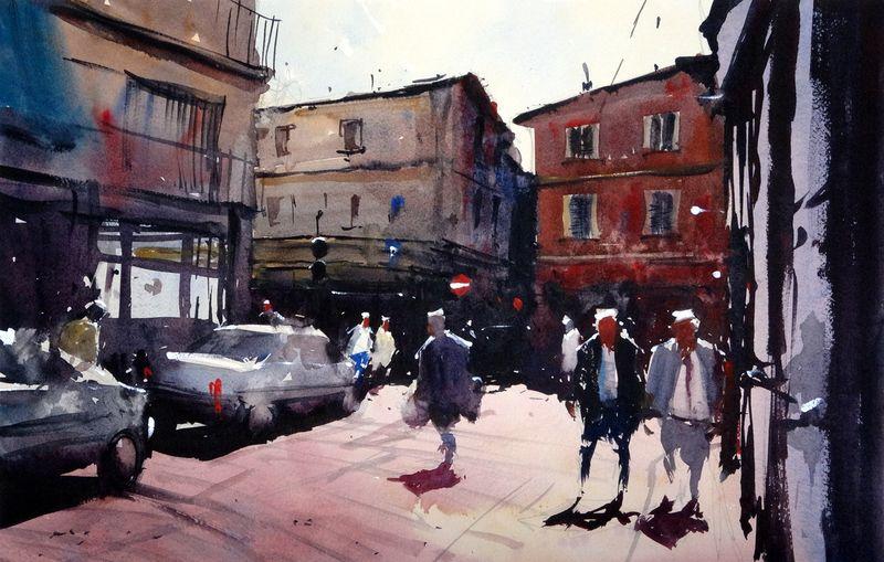 Shopping Street, Fabriano, Italy