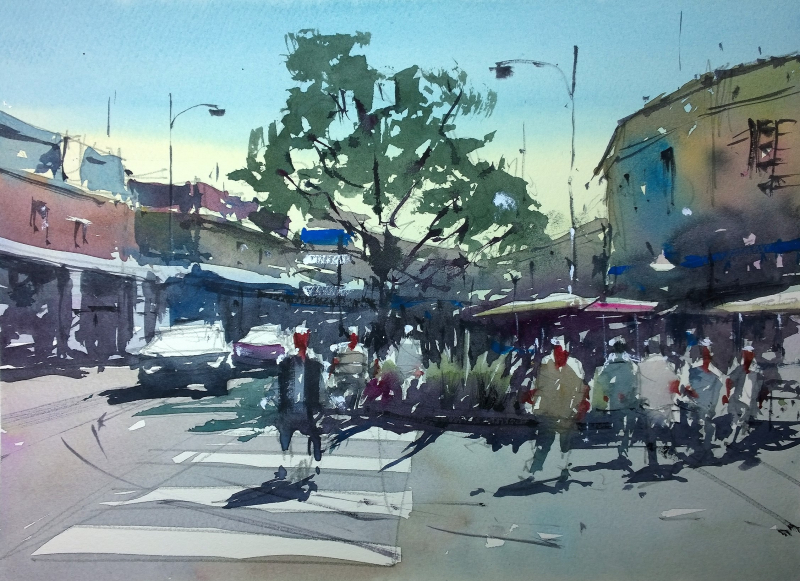 Montpon plein air wednesday market day