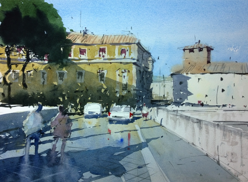 Watercolour demo rome
