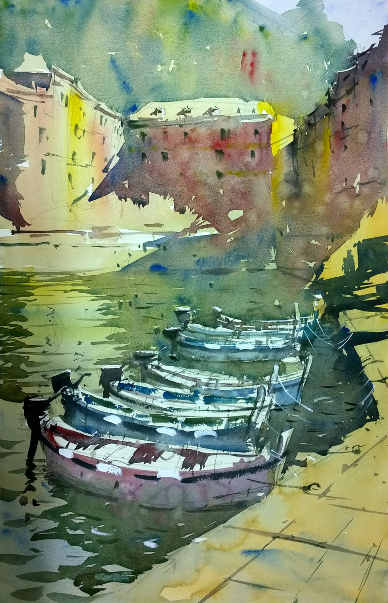 Vernazza Cinque Terre boats