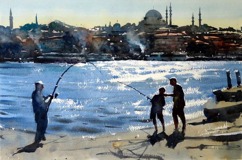 Fishing__golden_horn_istanbul