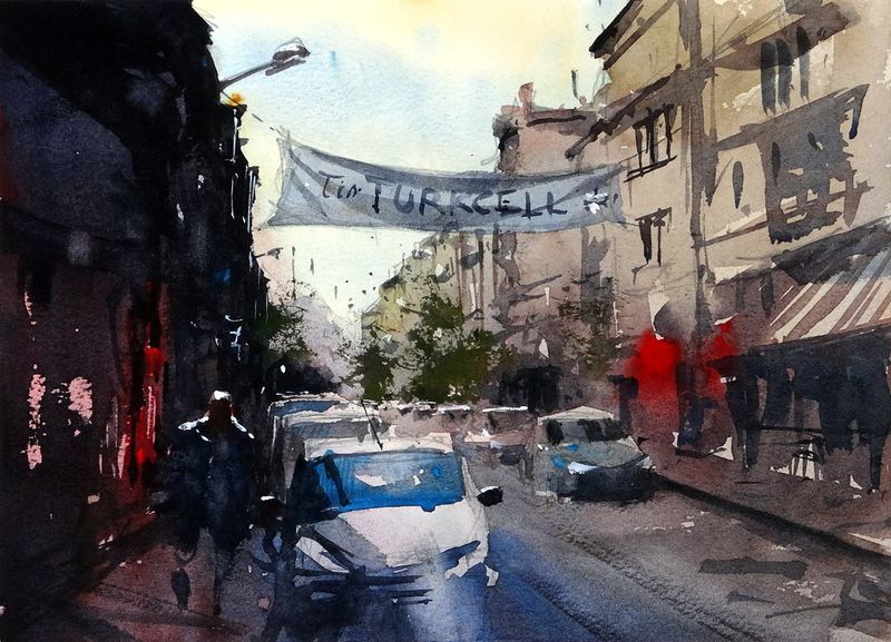 Street Banner, Mudanya, Turkey