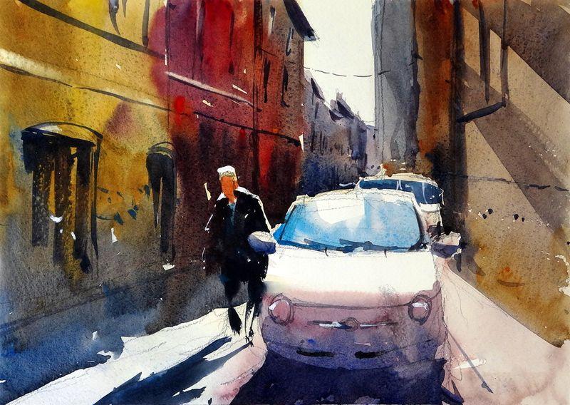 Fabriano_back_street_italy