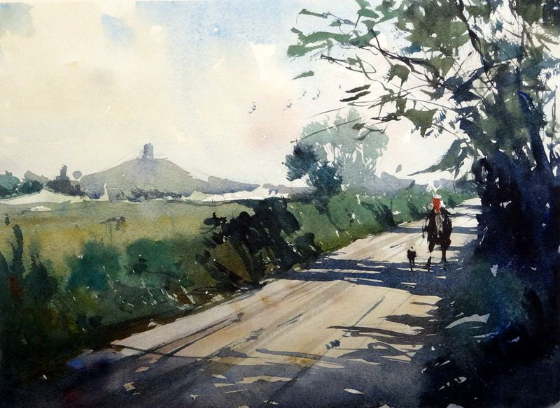 Burrowbridge, Somerset 2 - Wishing for a plein air visit there!