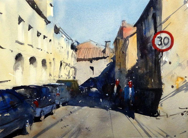 Rue Jean Louis Faure, St Foy La Grande, France