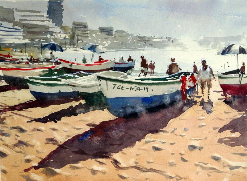 Boats_and_surf_playa_de_las_canteras_gran_canaria