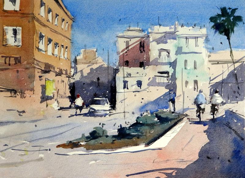 Sitges_old_town_promenade_spain