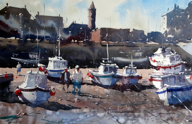 Porthleven_harbour_imaginary_composition