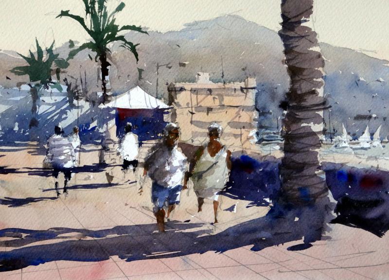 Stroll along the promenade san sebastian