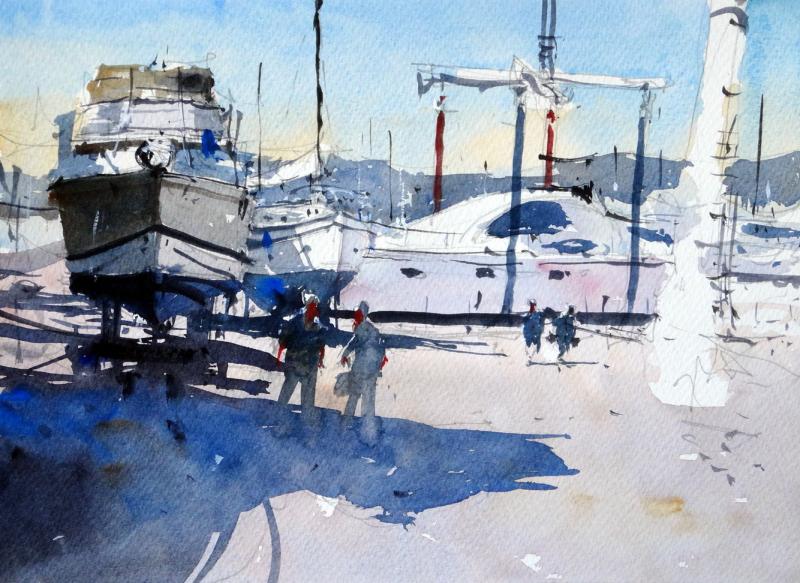 Boat crane boatyard st raphael france
