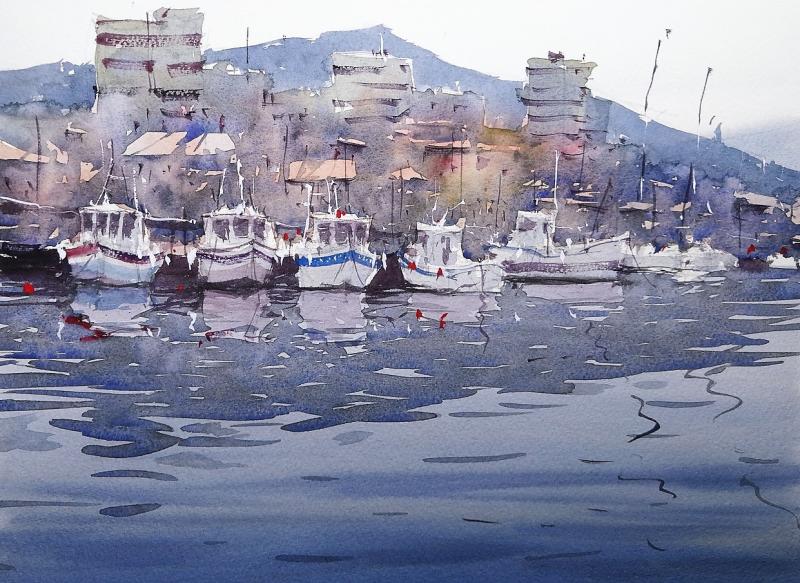 Demo practice harbour scene