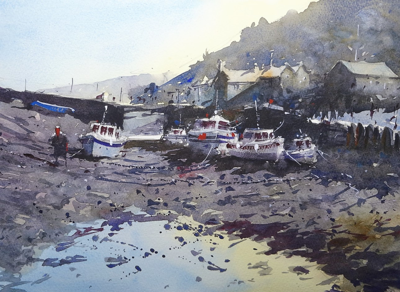 Watercolour demo porlock weir