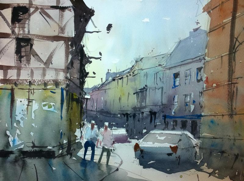 Broad Street Ludlow - Plein Air