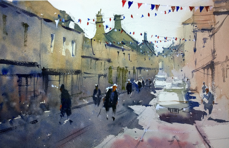 Bunting down the high street corsham