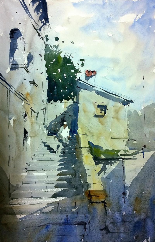 Castle steps Verrucola tuscany