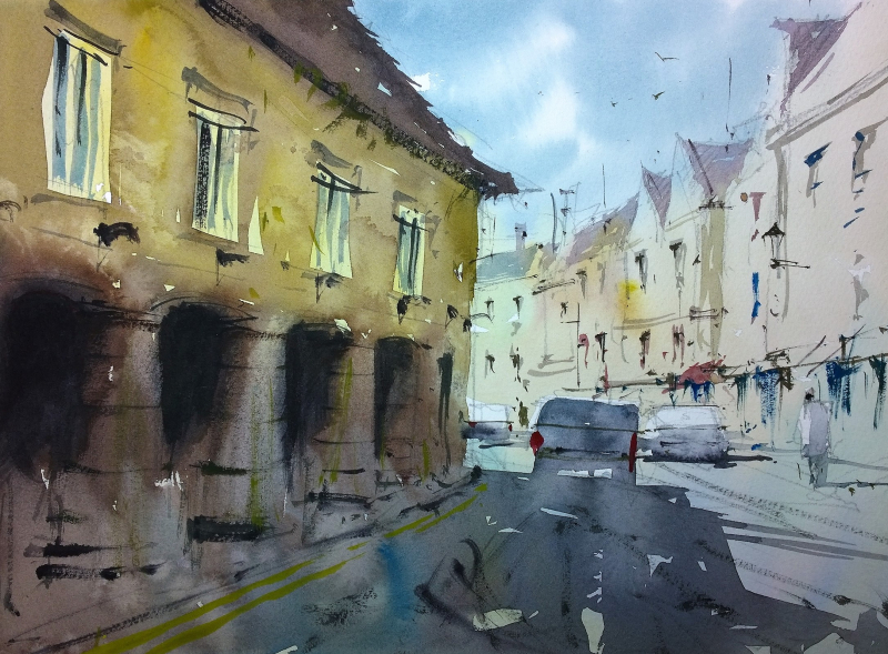 Tetbury plein air june #2