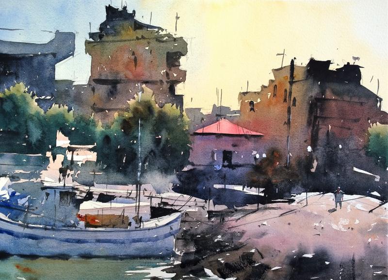 Chania fishing port crete