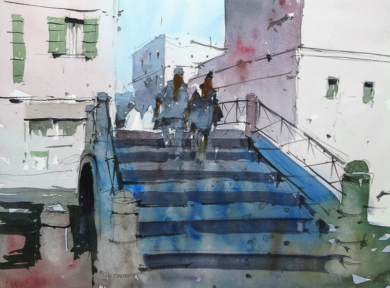 Bridge steps venice