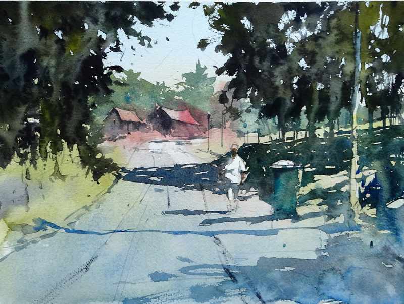 Another dashcam painting - dordogne 2