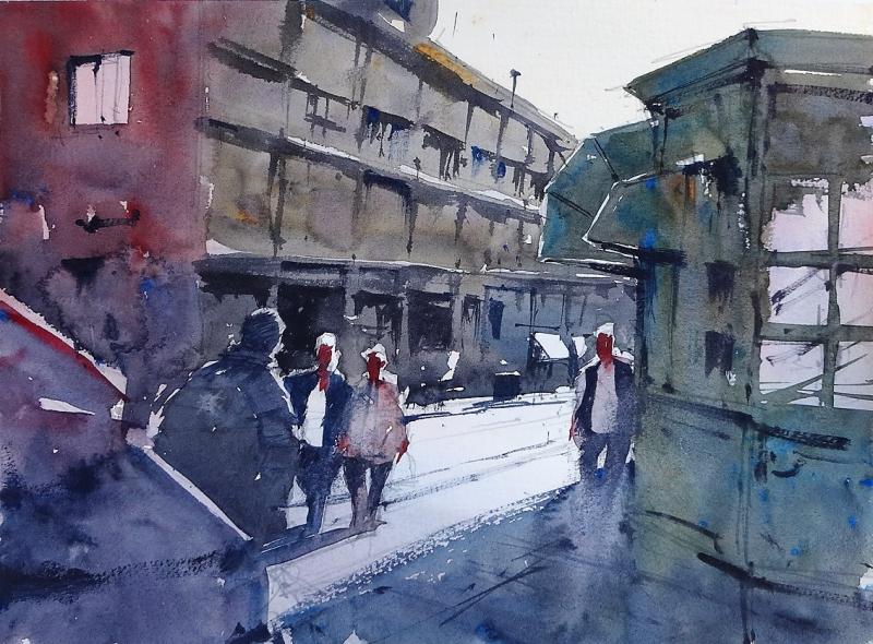 Street corner livorno