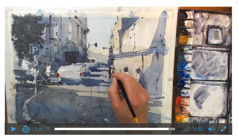 Live, and Online, 2 hour Watercolor Workshop with Tim Wilmot, Sunday March 1st 2020