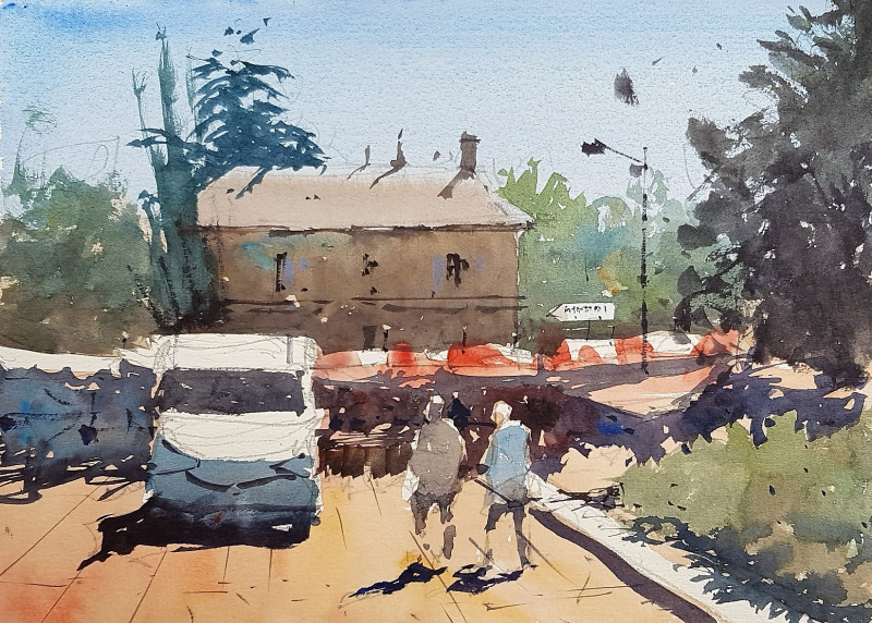 France painting holiday plein air #1