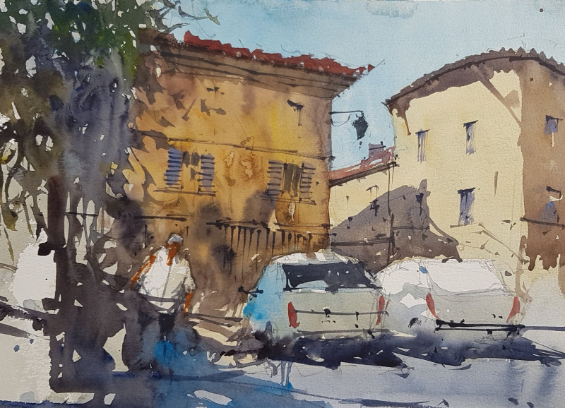 France painting holiday plein air #10