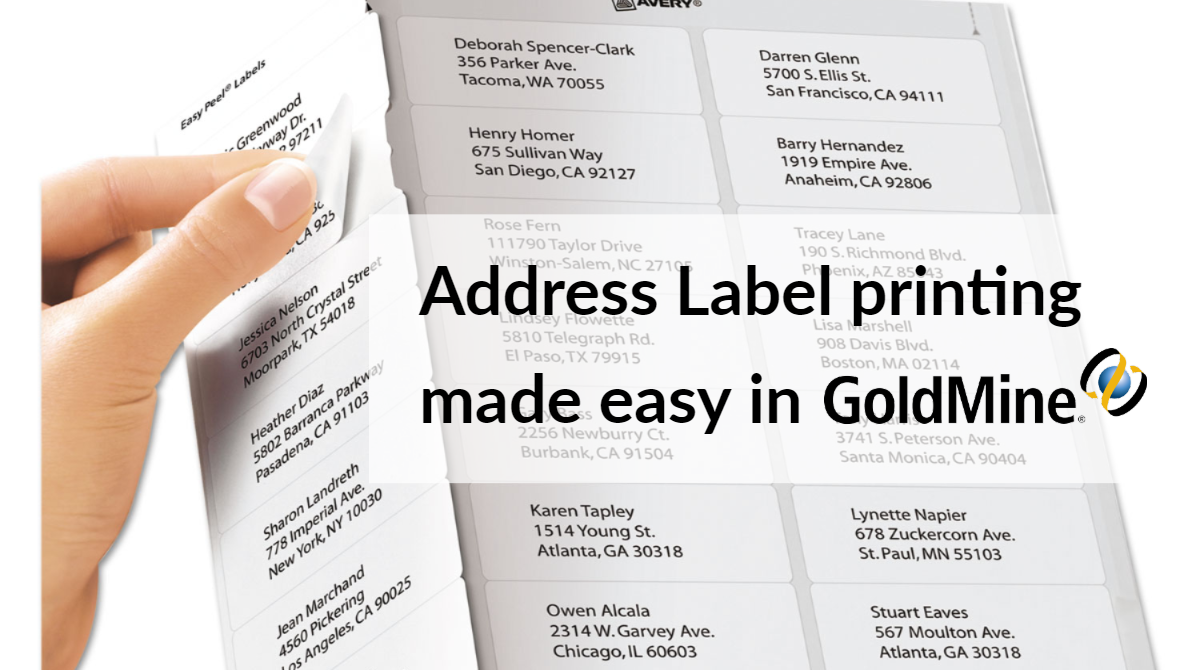 Goldmine Blog How Do You Print Address Labels From Goldmine