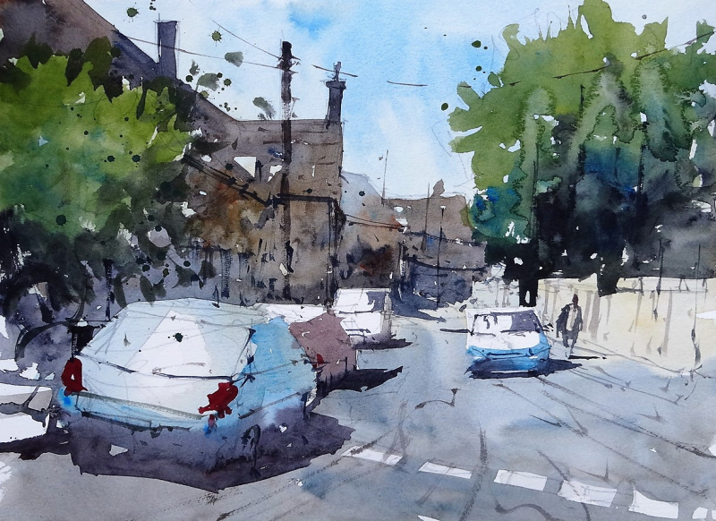 Sherston plein air painting #2