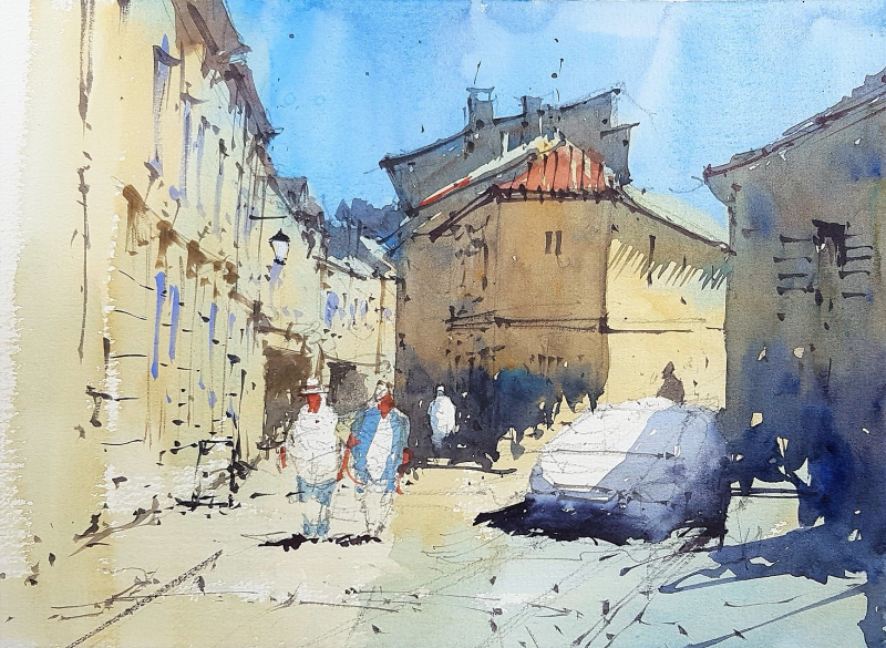 France painting holiday plein air #6