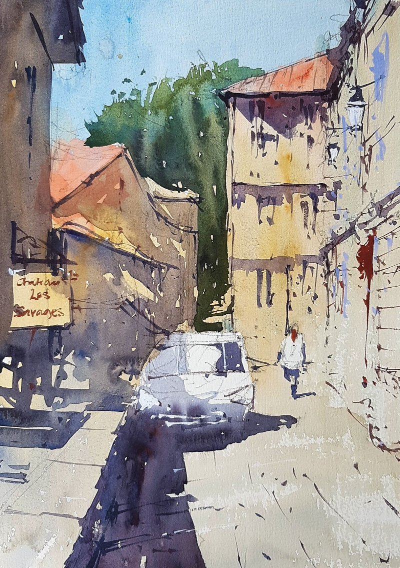 France painting holiday plein air #7