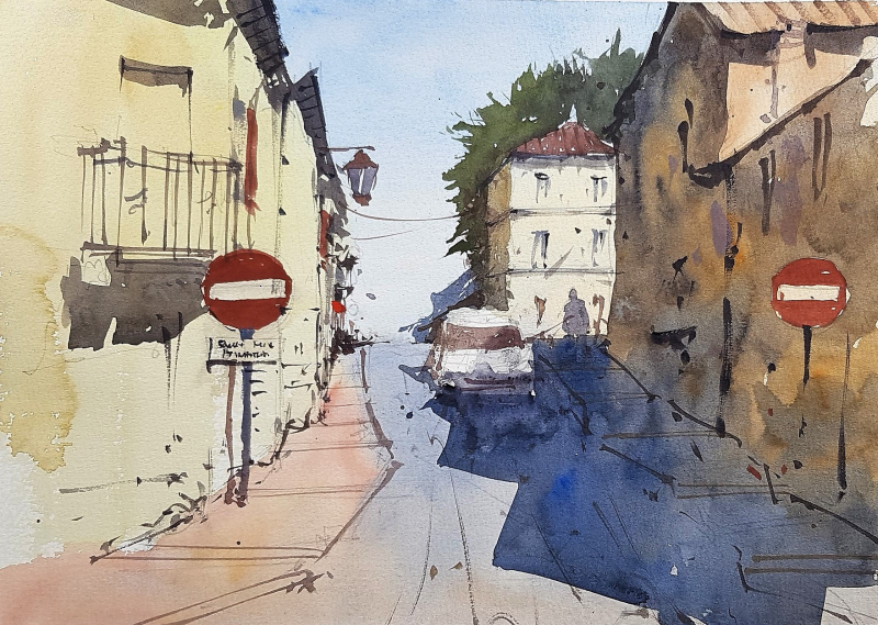 France painting holiday plein air #8