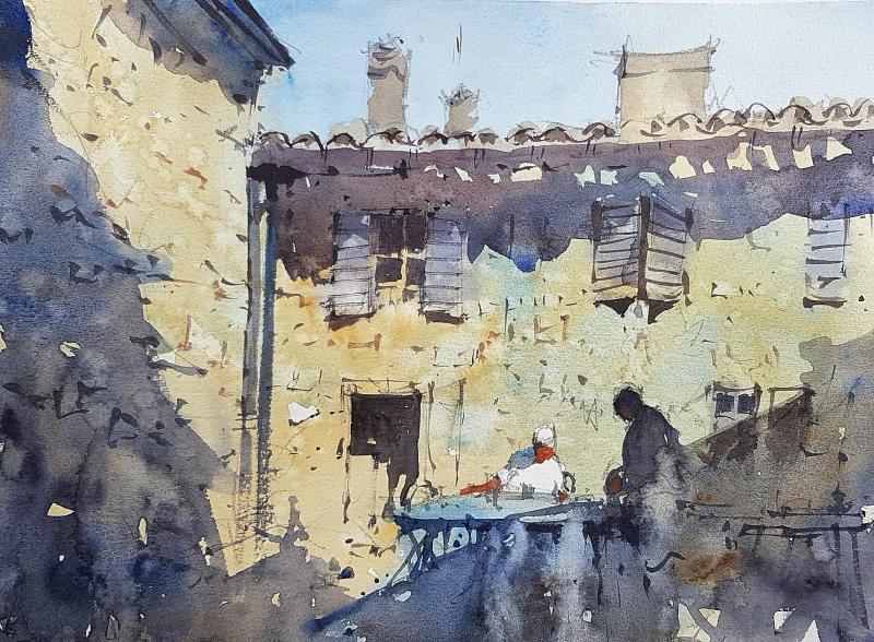 France painting holiday plein air #9