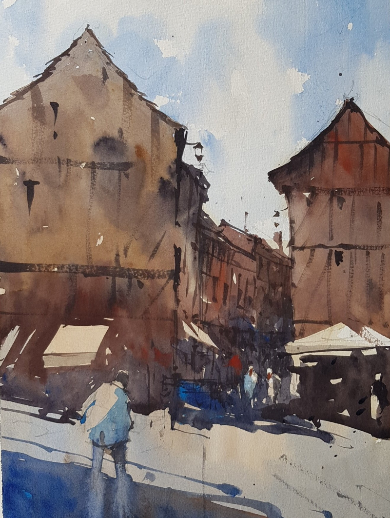 France painting holiday plein air #11
